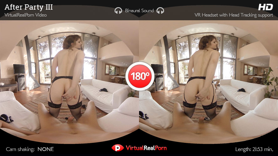 Sexy virtual reality porn title After Party 3 from Virtual Real Porn