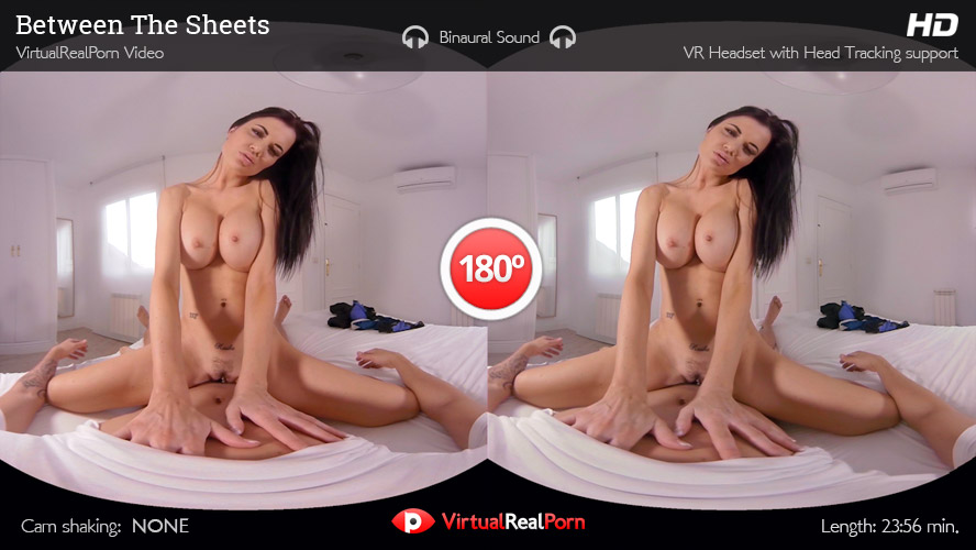 Sizzling virtual reality porn movie Between The Sheets by Virtual Real Porn