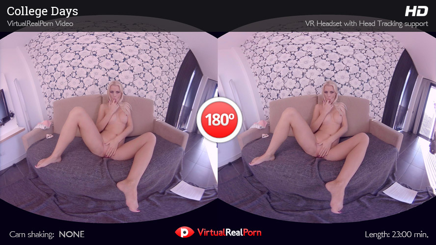 Naughty VR porn title College Days from VirtualRealPorn