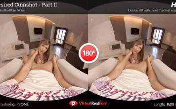 """Desired Cumshot Part 2"" Virtual Real Porn Movie Trailer"