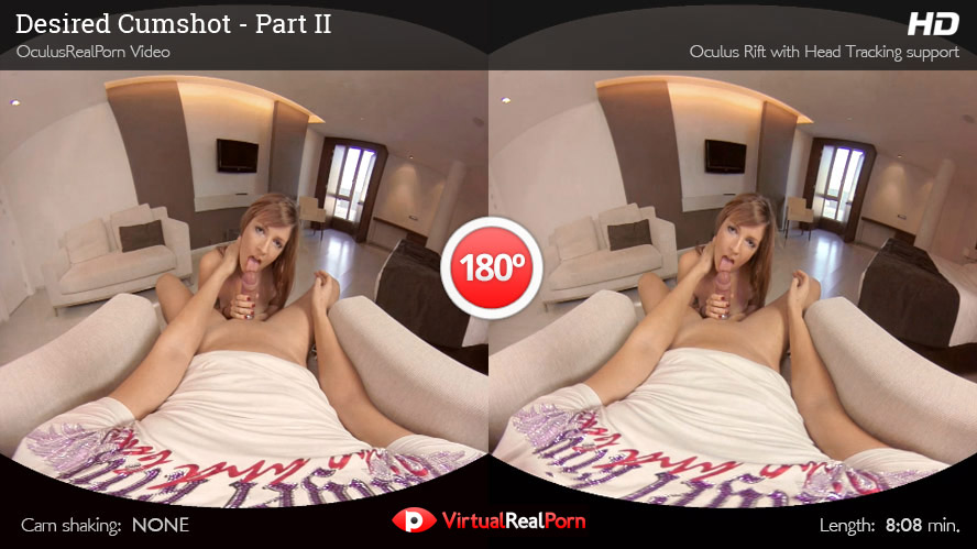 Naughty virtual reality porn movie Desired Cumshot Part 2 from Virtual Real Porn