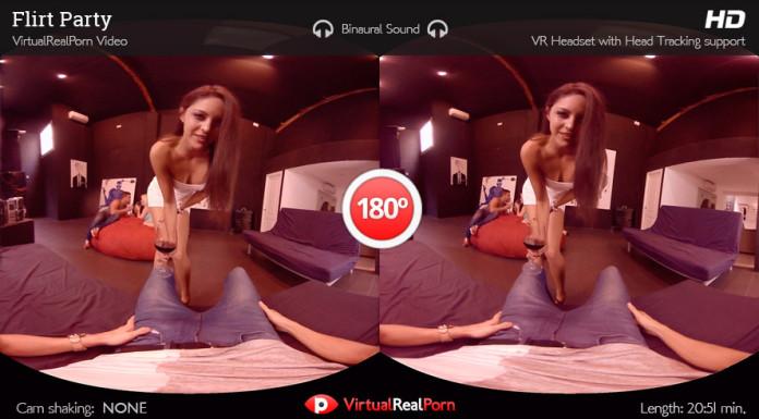 """Flirt Party"" Virtual Real Porn Movie Trailer"