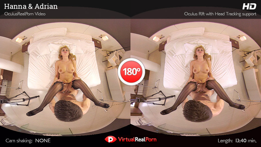 Sizzling virtual reality porn title Hanna and Adrian by VirtualRealPorn