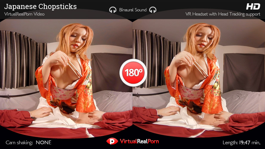 Sexy virtual reality porn title Japanese Chopsticks by Virtual Real Porn