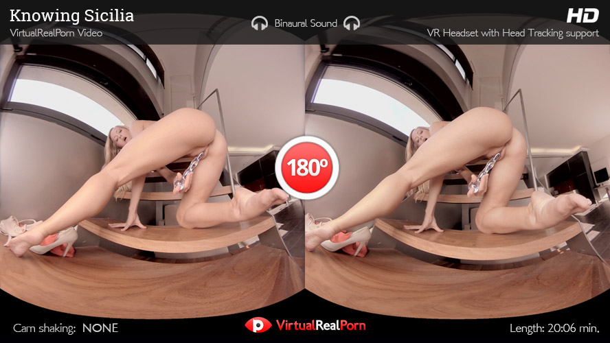 Sizzling VR porn movie Knowing Sicilia from Virtual Real Porn