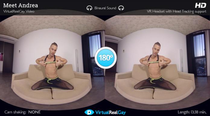 """Meet Andrea"" Gay VR Porn from VirtualRealPorn"