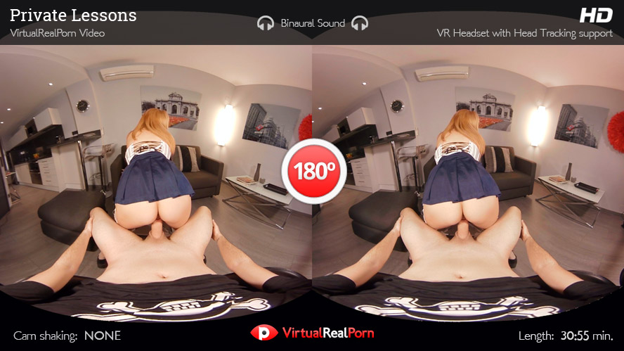 Sizzling VR porn movie Private Lesson by Virtual Real Porn
