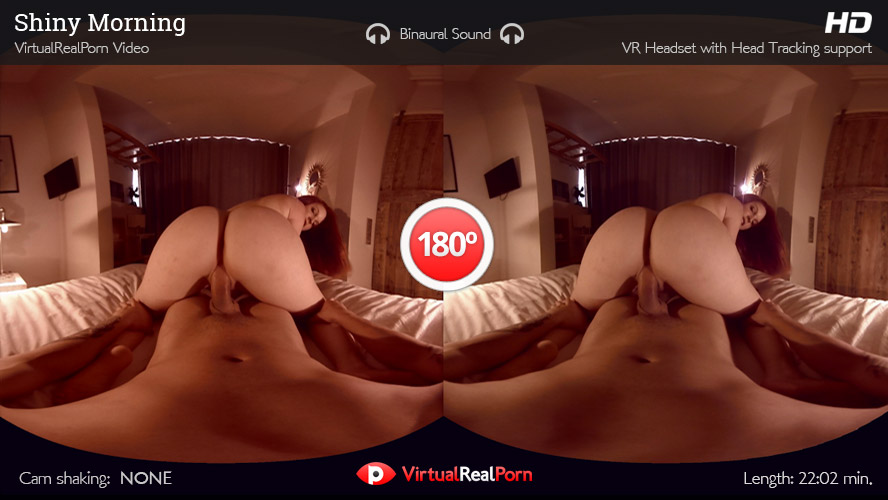 Sizzling VR porn title Shiny Morning by VirtualRealPorn