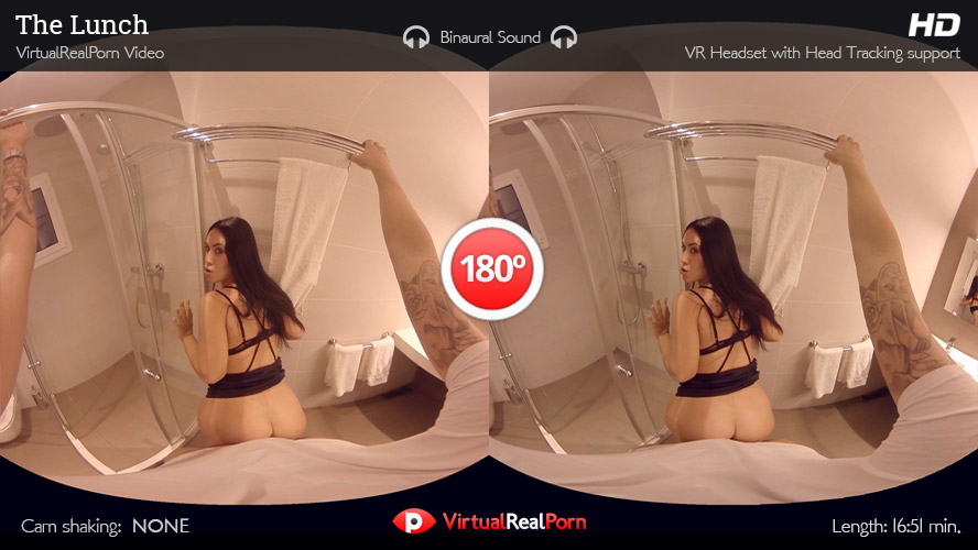 Hot virtual reality porn title The Lunch by Virtual Real Porn