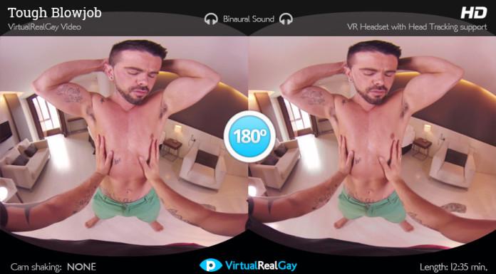 """""""Tough Guy Blowjob"""" Gay VR Porn from VirtualRealPorn"""