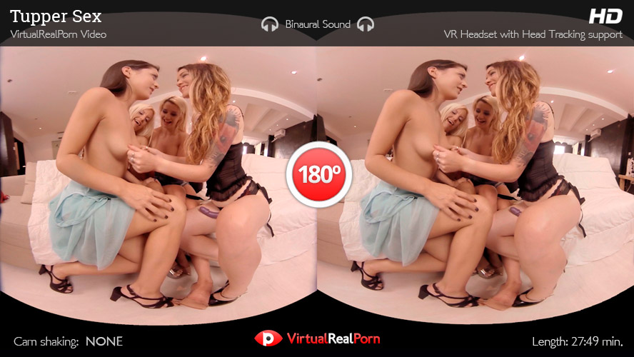 Hot virtual reality porn movie Women's Tupperware Party from Virtual Real Porn