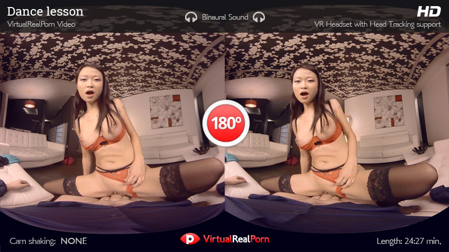 Dance Lesson: extreme anal scene with the asian goddess Pussykat for VR!
