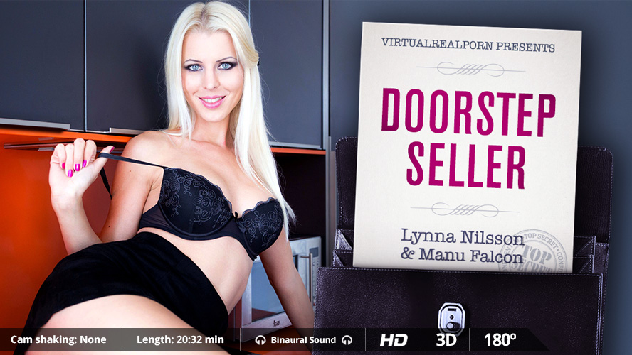 Sexy VR porn title Doorstep Seller from Virtual Real Porn