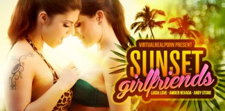 """Sunset Girlfriends"" Sweet VR Porn Title from VRP"