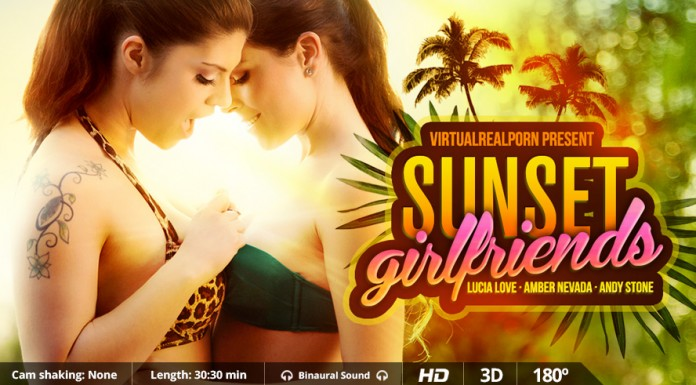 """""""Sunset Girlfriends"""" Sweet VR Porn Title from VRP"""