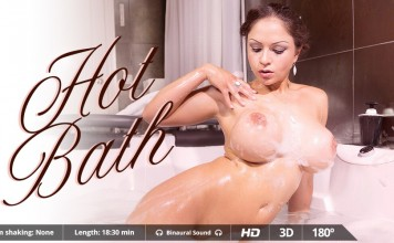 "Big Slippery, Soapy Titties in ""Hot Bath"", Full VR Porn Movie"