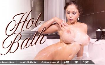"Big Slippery, Soapy Titties in ""Hot Bath"", Full VR Porn Movie"