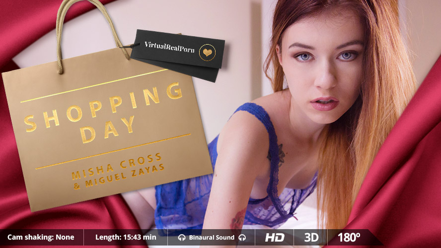 """Get Spoiled on """"Shopping Day"""", VR Porn Striptease and Fuck"""