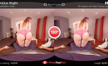 "Full VR Porn Movie ""Trekkie Night"" is Real Live Nerd Sex"