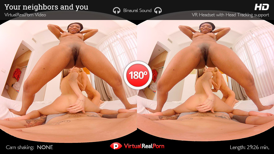 3 Girl Virtual Sex Orgy Banging you in 3D VR POV