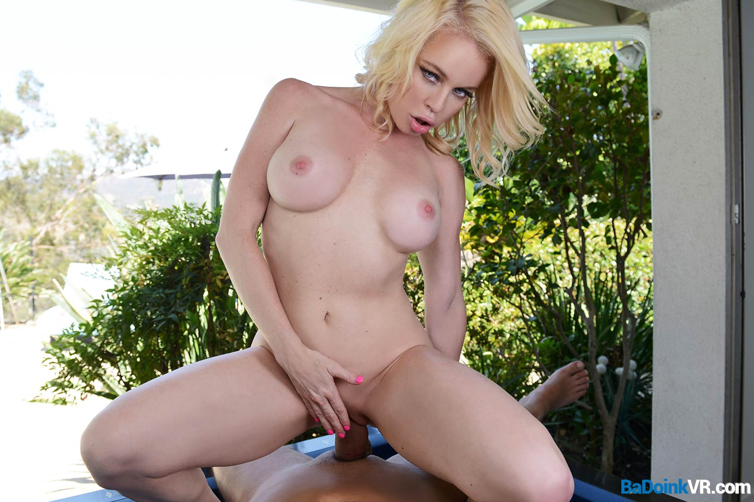 Big Boobs In VR presented by the Gourgeous Blond Nikki Delano | MobileVRxxx