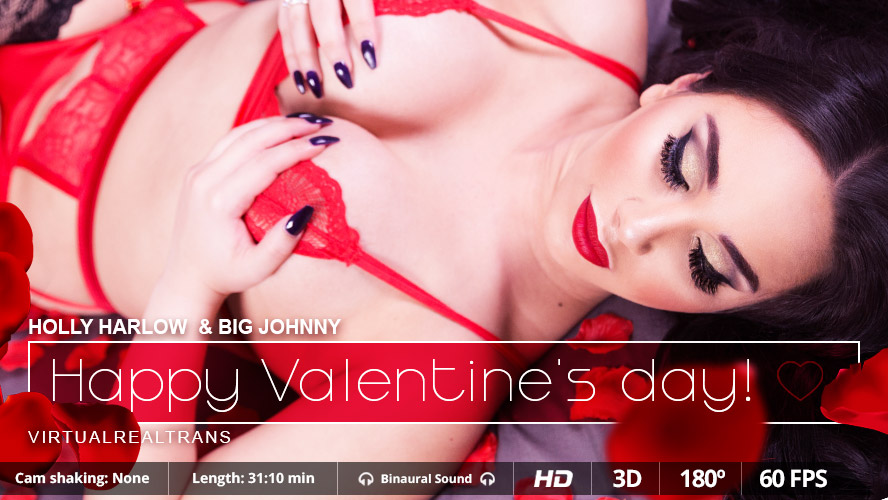 Happy Valentine's day with the hot trans Holly Harlow