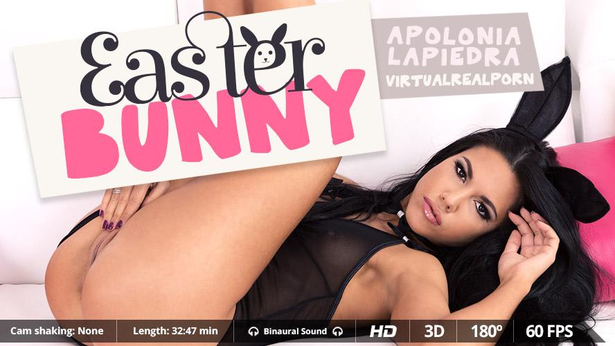 Easter Bunny VR Porn Solo Play with Apolonia Lapiedra | MobileVRXXX