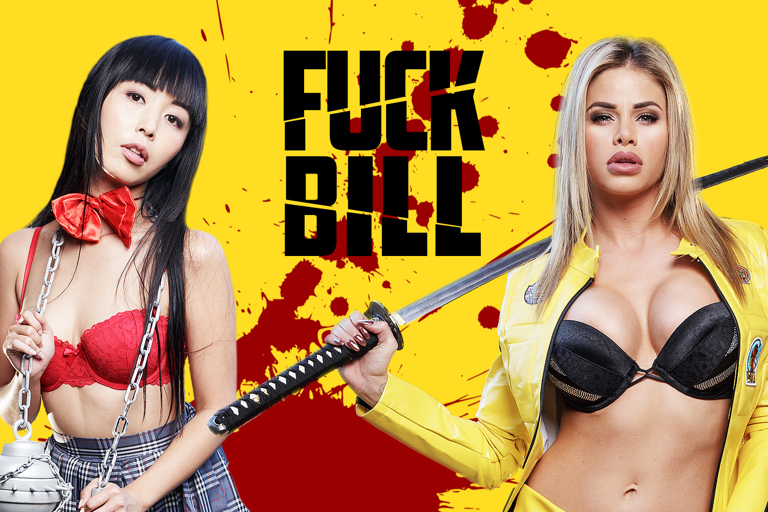 Kill Bill VR Porn Cosplay starring Jessa Rhodes and Marica Hase