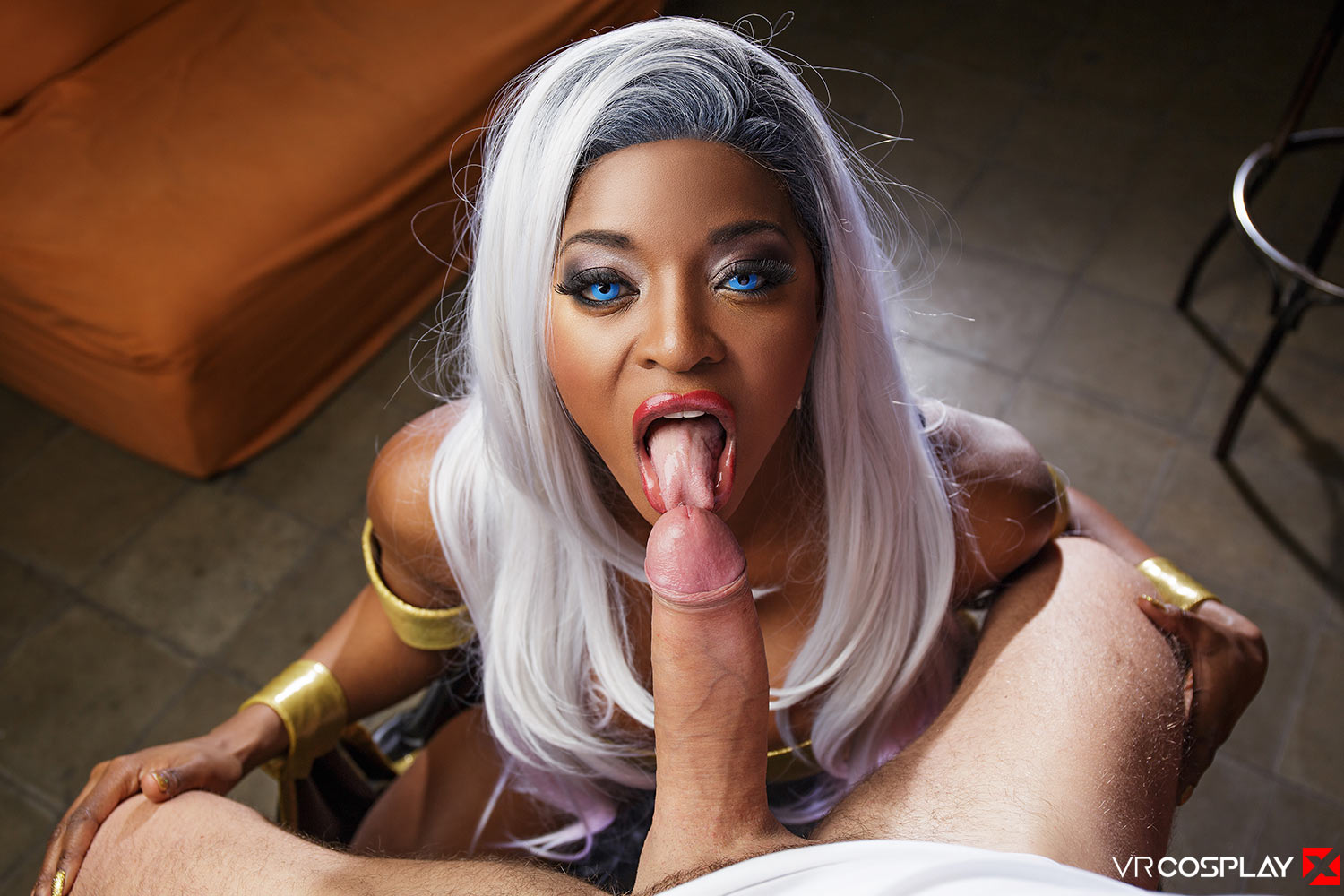 XXX-Men VR Porn Cosplay Storm Blowjob
