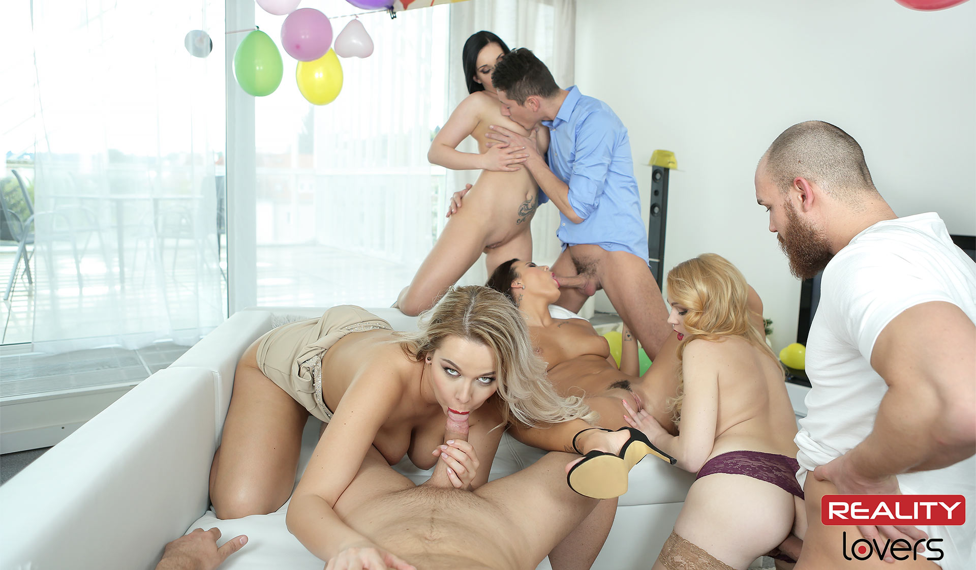 Birthday party orgy