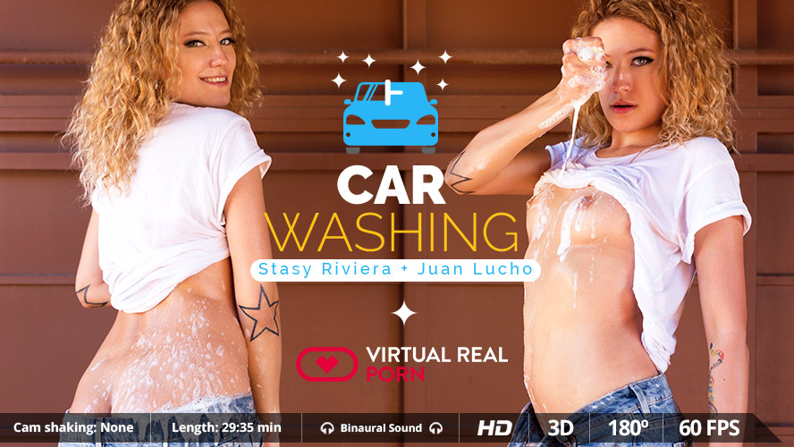 Carwash VR Porn with Sexy Stasy Riviera | MobileVRXXX