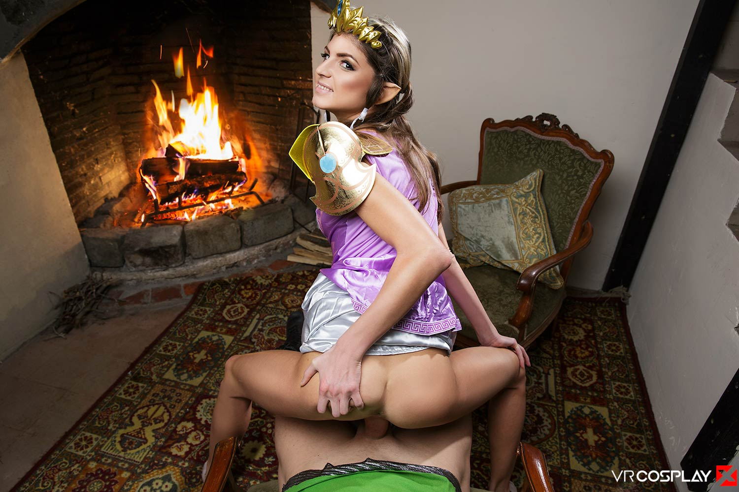The Legend of Zelda VR Porn Cosplay starring Gina Gerson as Princess Zelda