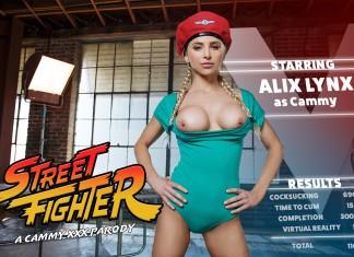 Street Fighter VR Porn Cosplay starring Alix Lynx as Cammy