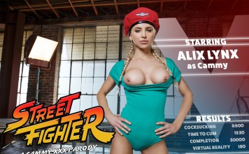 Street Fighter VR Porn Cosplay starring Alix Lynx as Cammy