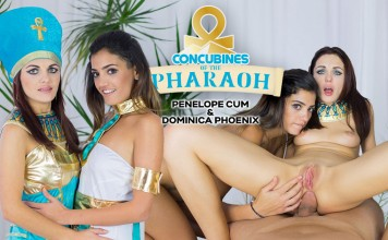 Anal VR Threesome with the Concubines of the Pharaoh Dominica Phoenix and Penelope Cum