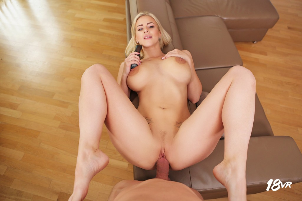 Busty blonde babe cherie deville takes erics oiled hard dick - 2 part 9