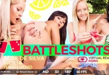 Drunk Threesome with Busty Alba de Silva and Blonde Sicilia