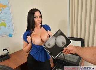 Busty Brunette Busted at the Office starring Rachel Star