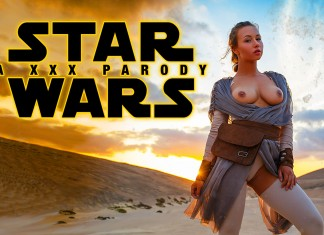 Star Wars VR Porn Cosplay starring Taylor Sands as Rey