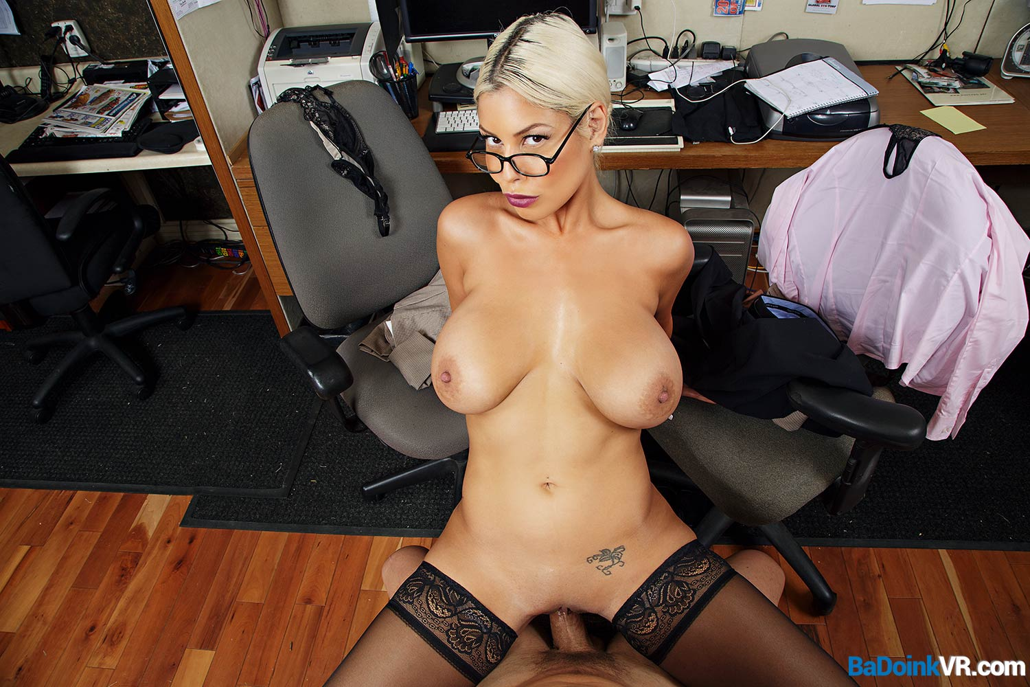 titty fuck in the office