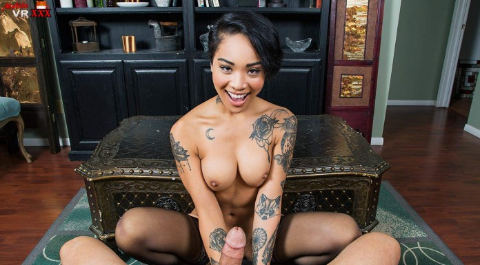 Tattooed Asian Teen